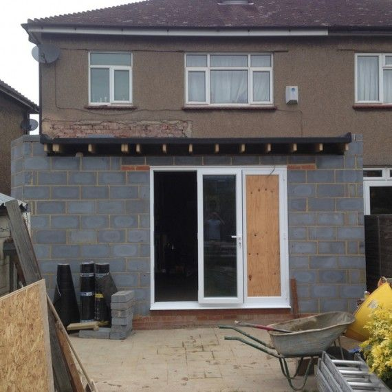 home extension being built